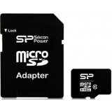 Silicon Power Class 10 microSDHC + Adapter - 16GB کارت حافظه