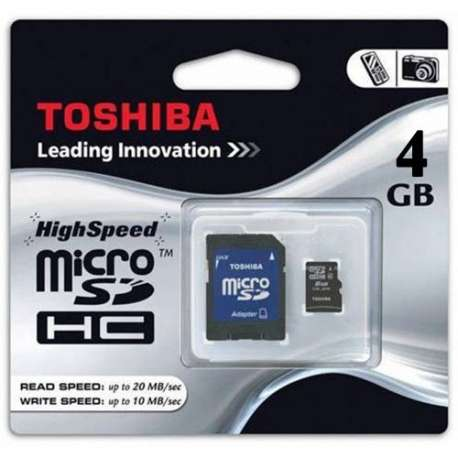 کارت حافظه MicroSD Card TOSHIBA 4 GB