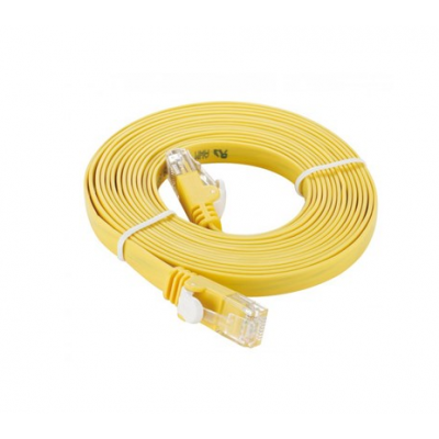D-Link NCB-5EUYELF1-3 3M Category 5E UTP Flat Patch Cord کابل شبکه