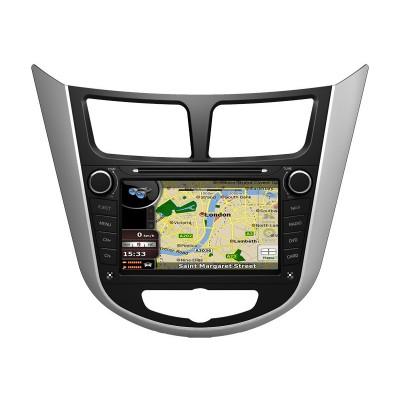 Hyundai Accent مانیتور فابریک خودرو هیوندای