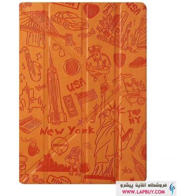 Ozaki Ocoat Travel New York Flip Cover Apple iPad mini 4 کیف کلاسوری اوزاکی آی پد مینی