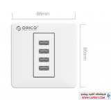 Orico ECA-4U Smart USB Wall Plate شارژر دیواری