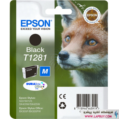 Epson T1281 Black کارتریج جوهر افشان اپسون