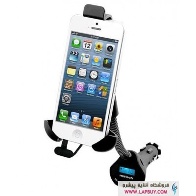 Naztech N3050 Universal Audio Transmitter شارژر فندکی و نگهدارنده موبایل