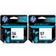 HP OfficeJet 4252 کارتریج پرینتر اچ پی