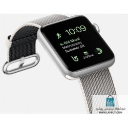 Apple Watch Series 2 42mm Silver Aluminum Case with Pearl Woven Nylon ساعت هوشمند اپل واچ
