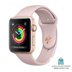 Apple Watch Series 3 GPS 42mm Gold Aluminum Case with Pink Sand Sport Band ساعت هوشمند اپل واچ