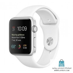 Apple Watch 2 42mm Silver Aluminum Case with White Sport Band ساعت هوشمند اپل واچ