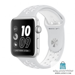 Apple Watch Series 2 Nike Plus 42mm Silver Aluminum Case with Pure Platinum/White Nike Sport Band ساعت هوشمند اپل واچ