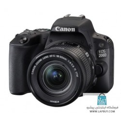 Canon EOS 200D Digital Camera with EF-S 18-55 mm f/4.5-5.6 IS STM Lens دوربین دیجیتال کانن