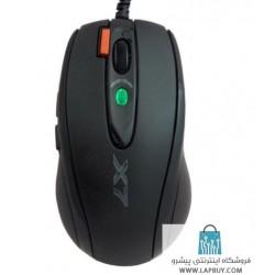 A4Tech X-710BK Gaming Mouse ماوس با سیم ای فورتک