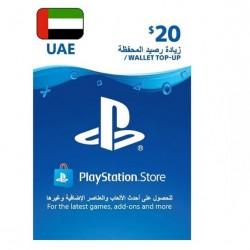 گیفت کارت 20 دلاری پلی استیشین مناسب برای اکانت های امارات