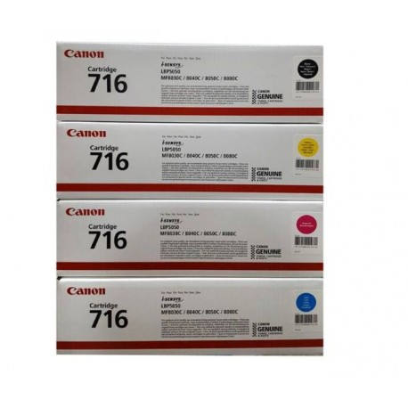 Canon 716 Cartridge Pack of 4 پک کارتریج چهار عددی کانن