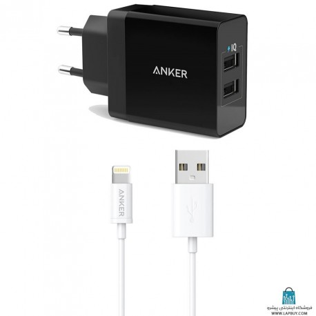 Anker A2021 With Lighting Cable شارژر دیواری انکر