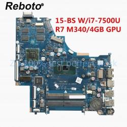HP 15-BS i7-7500U CPU R7 مادربرد لپ تاپ اچ پی