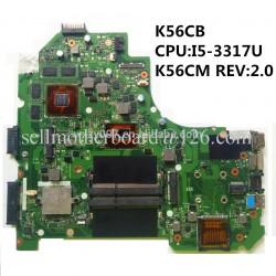 ASUS K56CB I5-3317u مادربرد لپ تاپ ایسوس