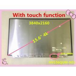 پنل ال سی دی لپ تاپ اسمبلی 4K 3840X2160 NV156QUM-N51 LCD Touch Screen