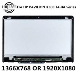 پنل ال سی دی لپ تاپ اسمبلی B140XTN02.E N140HCE-EBA X360 HP Pavilion X360 14m-ba