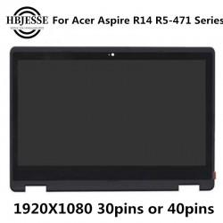 پنل ال سی دی لپ تاپ اسمبلی R5-471 Acer R14 Aspire R5-471t-79yn 14-FHD