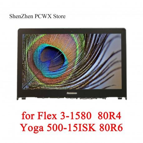 پنل ال سی دی لپ تاپ اسمبلی Ideapad N156BGE-EA2 500-15ISK Yoga Lenovo Flex 3-1580-80r4