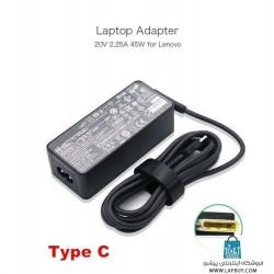 Lenovo 45W USB-C Type-C آداپتور برق شارژر لپ تاپ لنوو