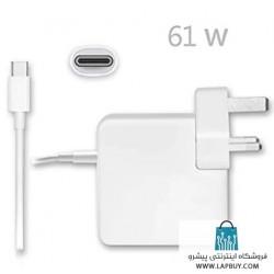 Apple 61W USB-C Power Adapter آداپتور برق شارژر اصلی لپ تاپ اپل