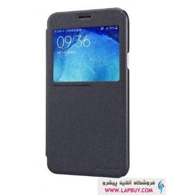 Nillkin New Leather Sparkle Flip Cover Samsung Galaxy J5 کیف کلاسوری