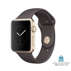 Apple Watch Series 2 42mm Gold Aluminum Case with Cocoa Sport Band ساعت هوشمند اپل واچ