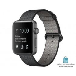 Apple Watch Series 2 42mm Space Gray Aluminum Case with Black Woven Nylon ساعت هوشمند اپل واچ