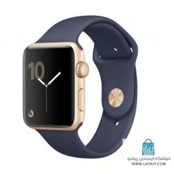 Apple Watch Series 2 42mm Gold Aluminum Case with Midnight Blue Sport Band ساعت هوشمند اپل واچ