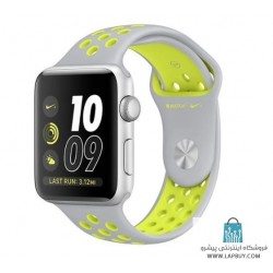 Apple Watch Series 2 Nike Plus 42mm Silver with Silver Volt Band ساعت هوشمند اپل واچ