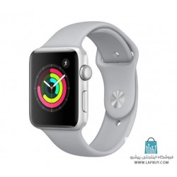 Apple Watch Series 3 GPS 42mm Silver Aluminium Case with Fog Sport Band ساعت هوشمند اپل واچ