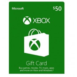 Xbox 50 USD Gift Card گیفت کارت 50 دلاری ایکس باکس آمریکا