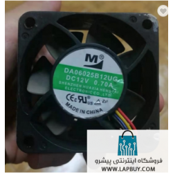 axial cooling fan DA06025B12UG 60x60x25 mm 12V 0.7A فن ماینر