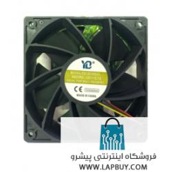 120x120x38 12V 2.7A ball bearing axial fan 4 pin 6000RPM YD12038B2G Antminer Avalon Aladdin Innosilicon فن ماینر
