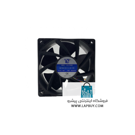 120x120x38 12V 3.12A ball bearing axial fan 4 pin 7000RPM Aixin Ebit Avalon miners YD12038HB فن ماینر