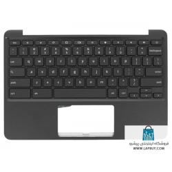 Asus Chromebook 11 C202SA 90NX00Y3-R30290 قاب دور کیبورد لپ تاپ ایسوس - به همراه کیبورد